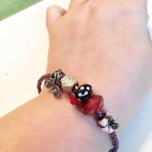 Chamilia Disney Charm Bracelet 925 Silver Charms